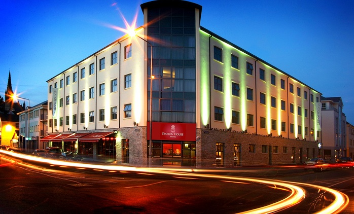 Co. Donegal: 1 to 3 Nights for Two with Breakfast, Tea/Coffee, Muffin and Newspaper at Station House Hotel Letterkenny