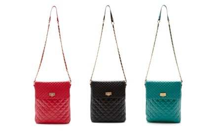 Bodhi Leather Quilted Crossbody for Tablet