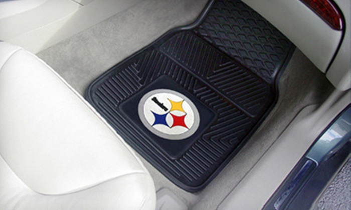 Fan NFL Vinyl Car Mats: $27 for an NFL Heavy-Duty Vinyl Car Mat Set with Shipping Included ($63.98 Total Value). 32 Teams Available.