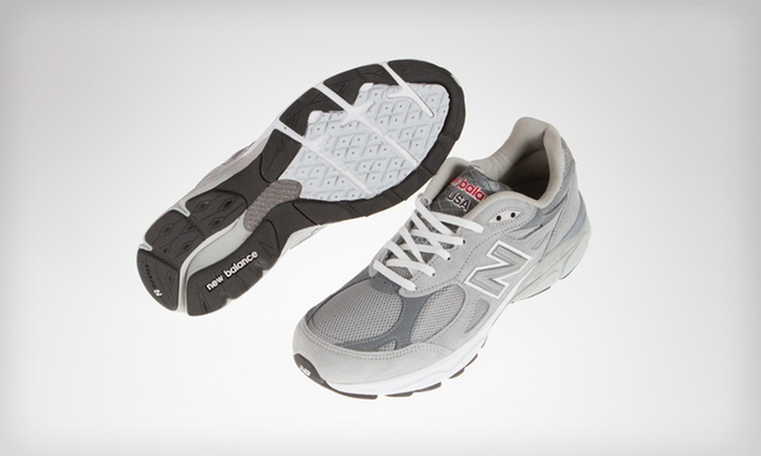 New Balance Men's 990 Road-Running Shoes: $92 for New Balance Men's 990 Road-Running Shoes in Gray and White ($149.99 List Price). Free Shipping. Five Sizes.