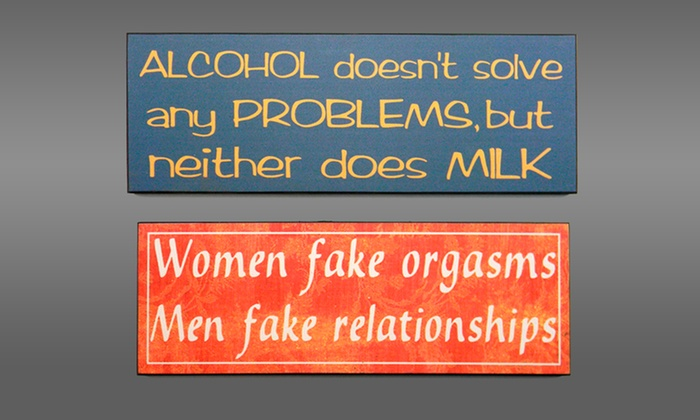 Sassy Wooden Signs: Sassy Wooden Signs. Multiple Designs Available. Free Shipping and Returns.