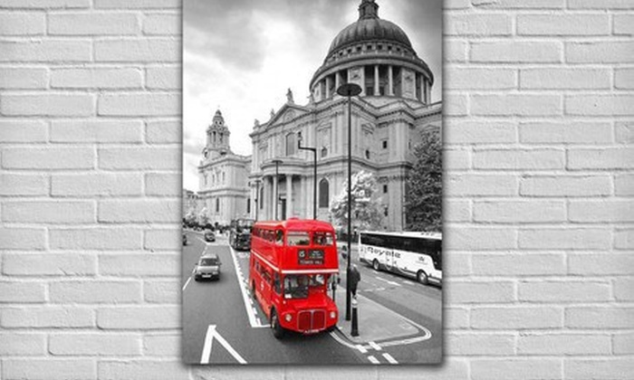 $59 for a Color on Black and White Canvas Gallery Wrap ($207.95 List Price). 10 Options Available. Free Shipping.