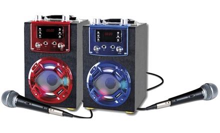 Altavoz bluetooth portatil con karaoke y micrófono