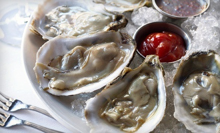 Oysters and Wine for Two or Two Martinis and One Mussel Pot at Beebo Seafood & Raw Bar (Up to 61% Off)