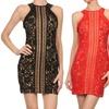 Women's Halter-Neck Illusion Lace Dress