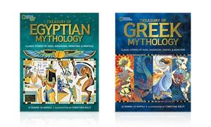 National Geographic Kids Treasury Of Egyptian Mythology And Treasury Of Greek Mythology