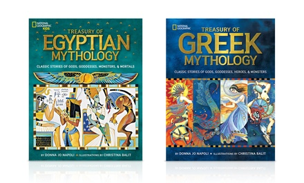 National Geographic Kids Treasury of Egyptian Mythology and Treasury of Greek Mythology