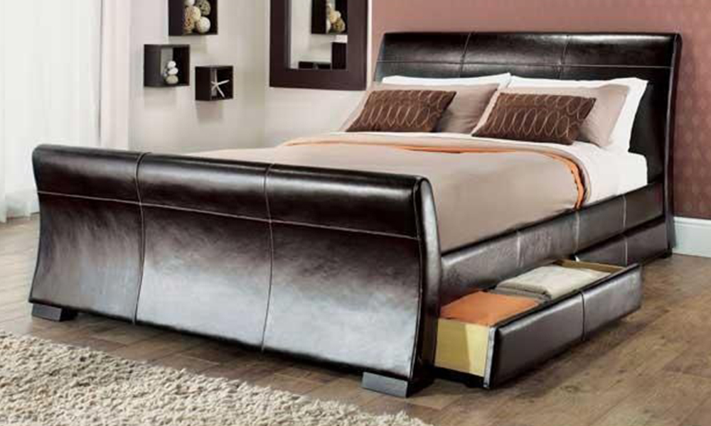 King Size Bed Frame With Storage. Gallery Of Ana White ...