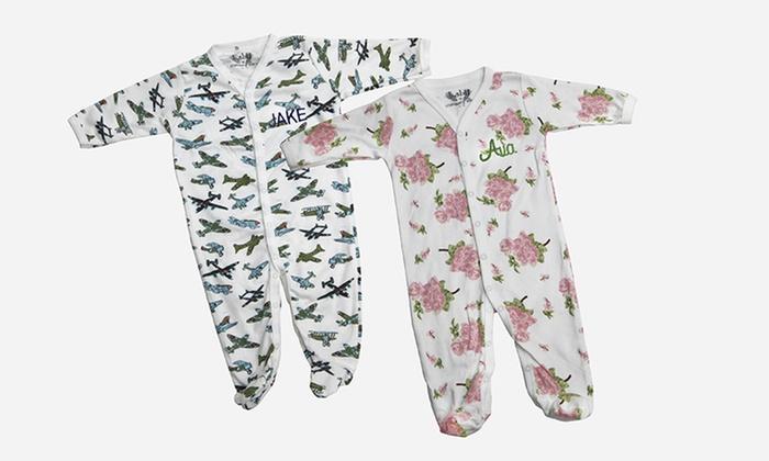Monogrammed Margery Ellen Baby Footie Pajamas Groupon