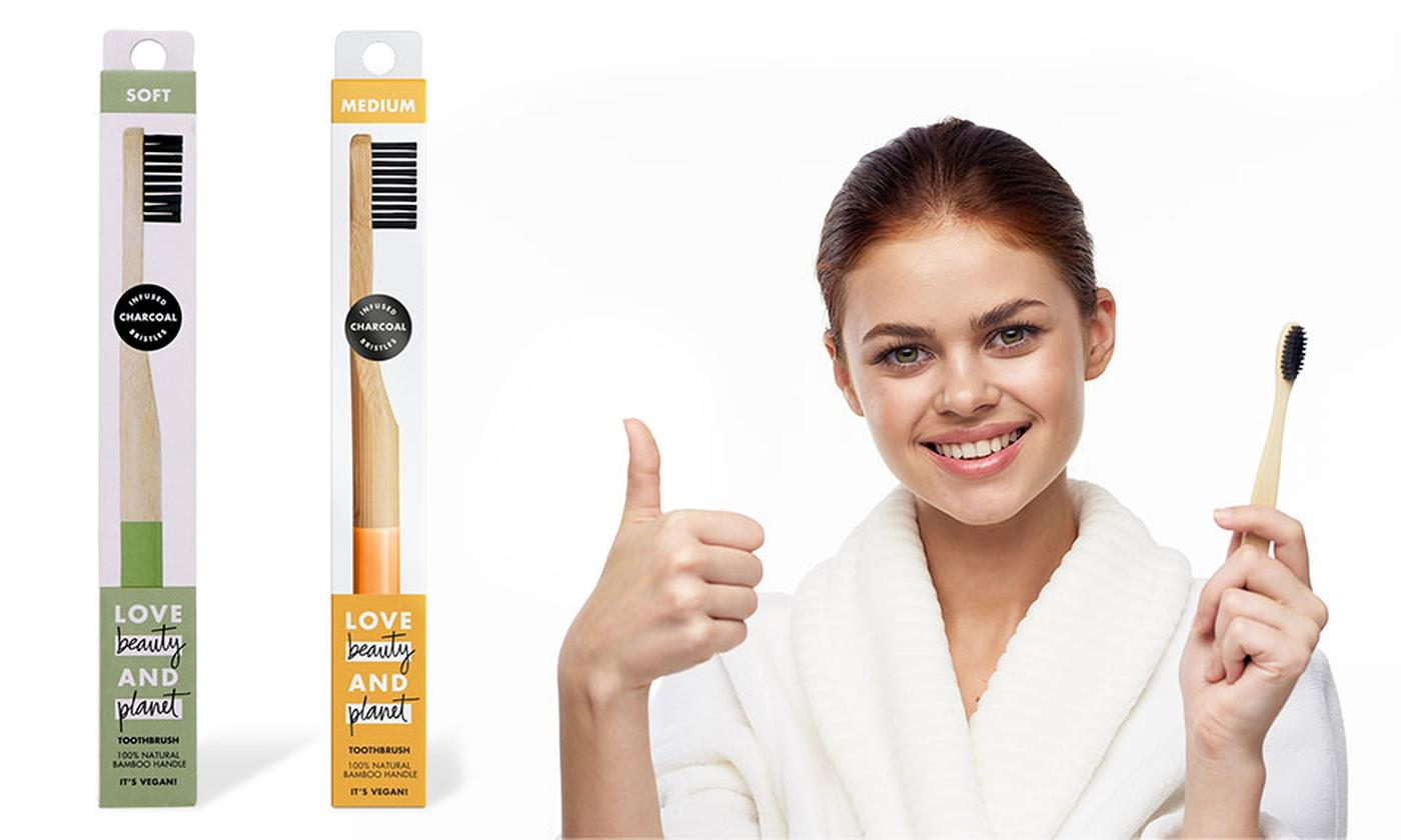 Two Soft or Medium Bamboo Toothbrushes