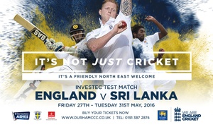 Durham County Cricket Club: England v Sri Lanka Investec Test Match: Premium Seat, 2 Course lunch, Afternoon Tea & More (Up to 58% Off*)