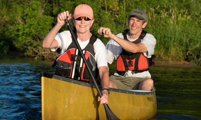 Clear Waters Outfitting Company - Clear Waters Outfitting: 8-Mile Canoe Trip for Two, Four, or Six on Mississippi River from Clear Waters Outfitting Company (Up to 54% Off)