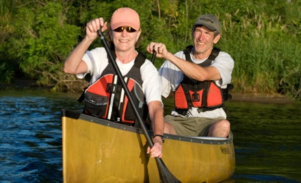 8-Mile Canoe Trip for Two on Mississippi River (a $50 value) - Clear Waters Outfitting Company in Clearwater