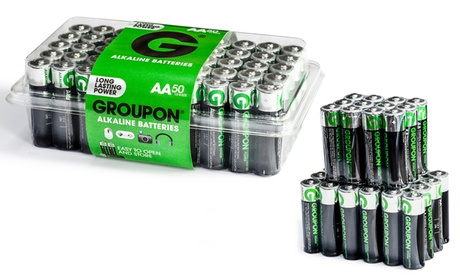 Pack de 50 o 100 pilas alcalinas AA y AAA Groupon Ultra Energy