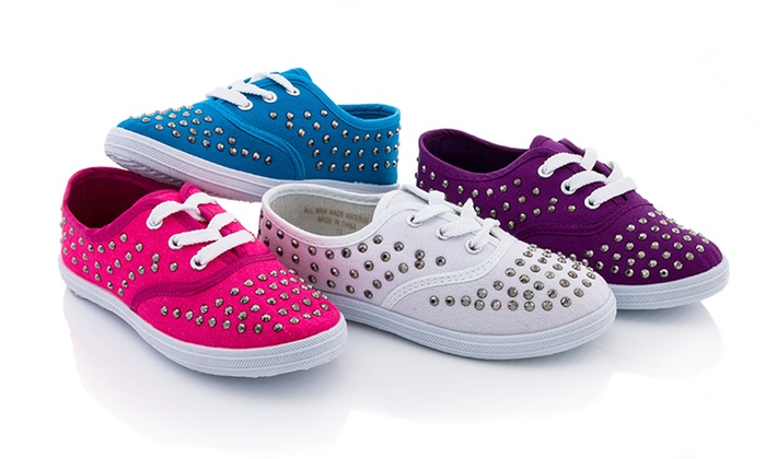 Coco Jumbo Kids Studded Low-Top Sneakers: Coco Jumbo Kids Studded Low-Top Sneakers. Multiple Colors and Sizes Available. Free Returns.