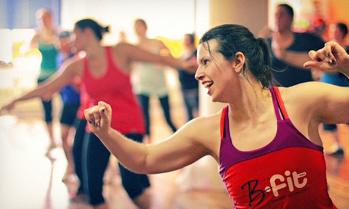 B-fit - Third Ward: 10 or 20 Cardio-Kickboxing, Zumba, Werq, or Piloxing Classes at B-fit (Up to 53% Off)