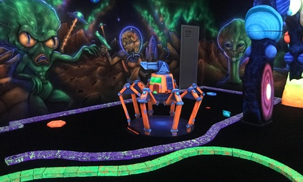 Daily Deal Offer Cosmic Mayhem Blacklight Mini Golf