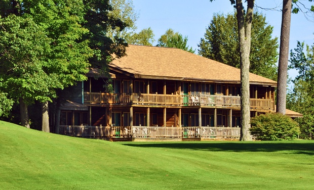 TripAlertz wants you to check out 1- or 2-Night Stay for Up to Four with Optional Golf Package at Thunder Bay Resort in Hillman, MI Woodsy Michigan Resort near Thunder Bay - Northern Michigan Resort