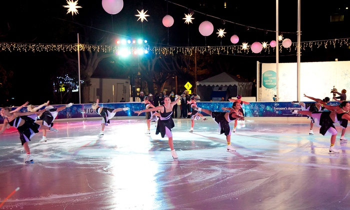 ICE Santa Monica - Downtown Santa Monica: Ice Skating for Two or Four with Hot Chocolate at ICE Santa Monica (Up to 28% Off)