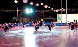 ICE Santa Monica: Ice Skating for Two or Four with Hot Chocolate at ICE Santa Monica (Up to 28% Off)