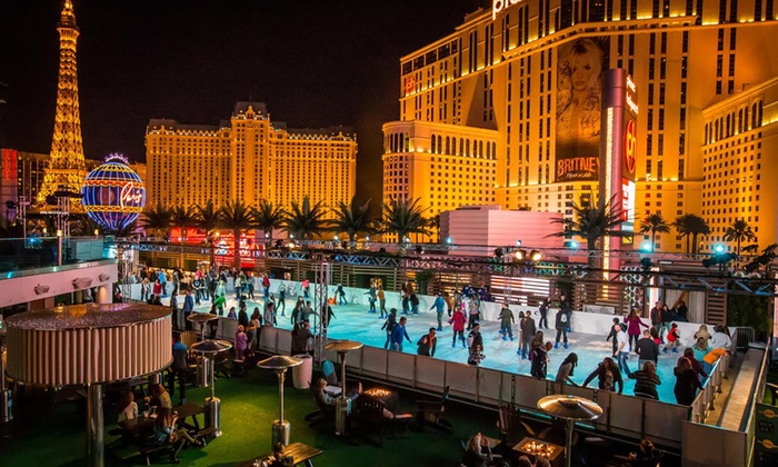 The Cosmopolitan of Las Vegas - The Ice Rink at The Cosmopolitan of Las Vegas: Ice Skating with Skate Rental for Two or Four at The Ice Rink at The Cosmopolitan of Las Vegas (Up to 51% Off)