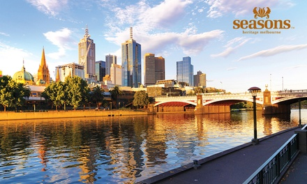 Melbourne: 1 or 2Night Stay for Two People with Late CheckOut at Seasons Heritage Melbourne