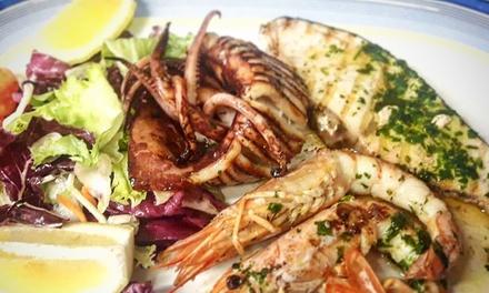 Menu di pesce con vino a 24,90€euro