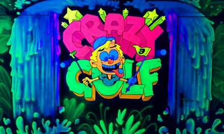 """Glow in the dark""midgetgolf bij Crazy Golf in Spijkennise"
