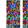 Fibre Reactive Printed Butterfly Beach Towels (2-Pack)