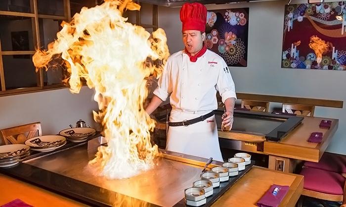 Benihana Japanese Steakhouse - Downtown Toronto: Four-Course Prix Fixe Teppanyaki Dinner for One or Two at Benihana Japanese Steakhouse (Up to 45% Off)