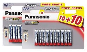 Piles Panasonic Silver AA et AAA