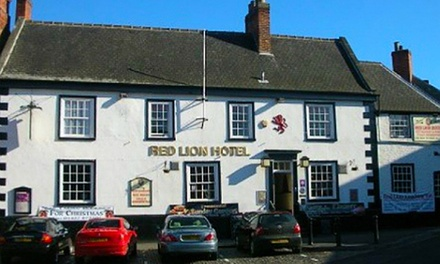 Lincolnshire: 1 or 2 Nights for Two with Breakfast and Wine at Red Lion Coaching Inn