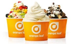 Orange Leaf- Crown Point: Frozen Yogurt at Orange Leaf Frozen Yogurt (40% Off). Two Options Available.