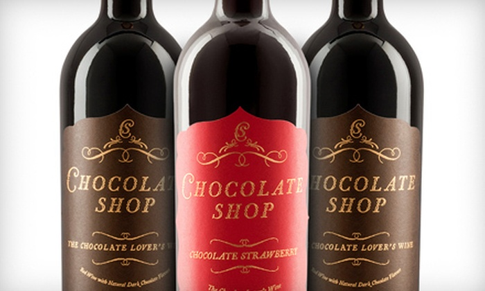 Precept Wine - Multiple Locations: $24 for Three Gift-Wrapped Bottles of Chocolate Shop Wine ($48 Value)