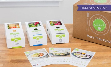 One, Two, Four, or Six Weeks of Subscription Cook-at-Home Meals for Two or Four from HelloFresh (Up to 51% Off)