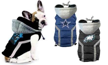 NFL NFC Dog Puffer Vests. Multiple Teams Available from $26.99–$39.99