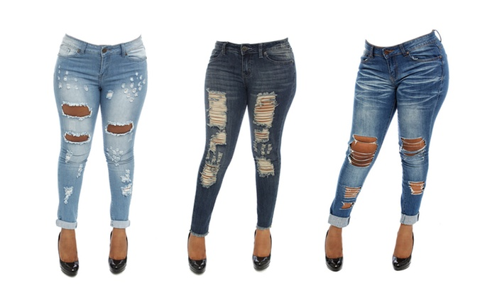 3dc09dd18275f V.I.P Jeans Women s Skinny Jeans. Plus Sizes Available.