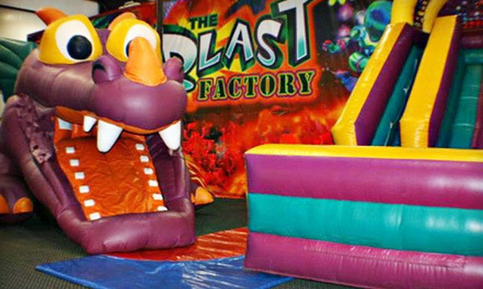 The Blast Factory - Kentwood: $25 for 10 One-Hour Inflatables Open-Play Sessions at The Blast Factory (Up to $70 Value)