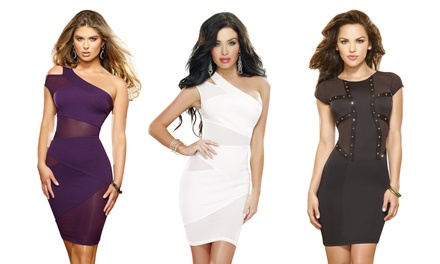 Women's Stretch Mini Dresses from $29.99–$36.99