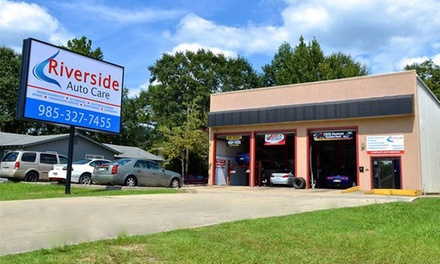 Regular or Full-Synthetic Oil Change at Riverside Auto Care (Up to 56% Off)
