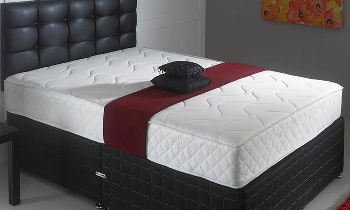 Hybrid memory foam mattress groupon goods for Beds groupon