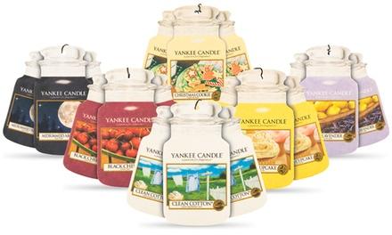 3, 9 ou 18 Désodorisants pour voiture Yankee Candle , plusieurs parfums disponibles