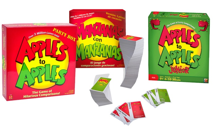 Apples to Apples Games: Apples to Apples Spanish, Junior, or Party Box (Up to 42% Off). Free Shipping.