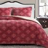 Plush Damask Jacquard Comforter Set (3-Piece)