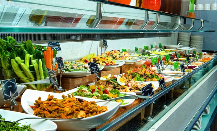Buffet with Soft Drinks: Child (AED 22), Adult (AED 45)