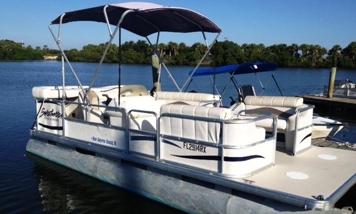 Sand Dollar Charters, LLC - New Smyrna Beach: $179 for a Full-Day Pontoon Rental from Sand Dollar Charters, LLC ($400 Value)