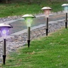 8- or 12-Pack Solar Color-Changing Garden Path Lights