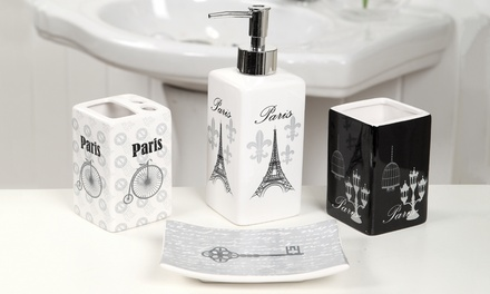 Paris Themed Bathroom Decor Set 18 Piece Groupon