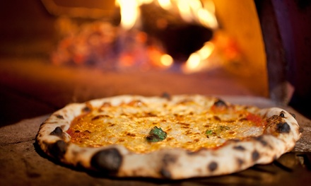 Wood-Fired Pizza with Choice of Three Toppings and with Wine or Beer for Two or Four at Solo Pizzeria (Up to 50% Off)