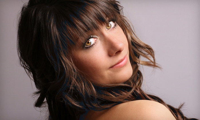 Advantage Hair - Downtown: Haircut with Option for Conditioning and Partial Highlights at Advantage Hair (Up to 51% Off)